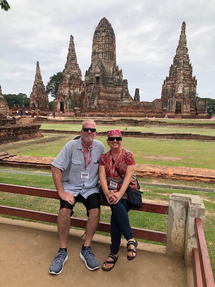 Travel Geeks in Wat Chaiwatthanaram, Thailand